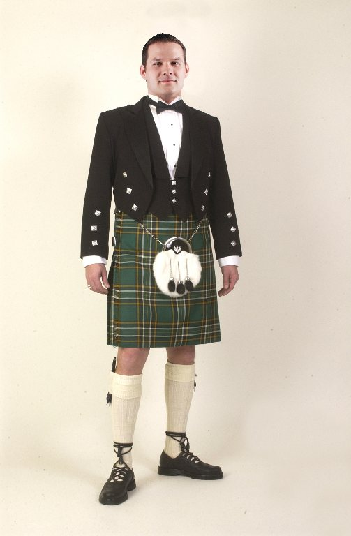 Irish National Tartan Kilt Rental Outfit