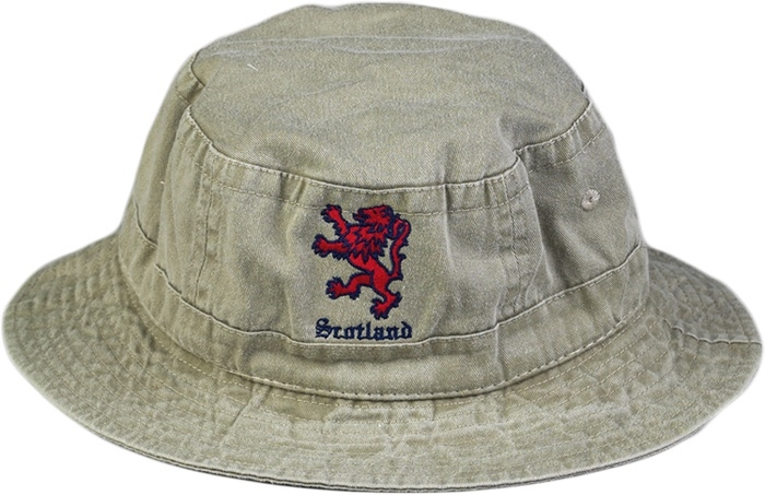 Scotland Lion Bucket Hat khaki
