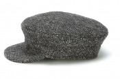 Skipper Cap Plain Tweed Grey