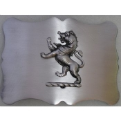 Antique Silver Traditional Lion Kilt Belt Buckle