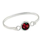 HeatherGems Circle Silver Plated Bangle