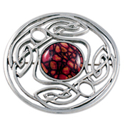HeatherGems Celtic Weave Brooch