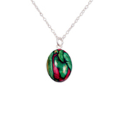 HeatherGems Small Oval Sterling Silver Pendant