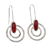 HeatherGems Open Circle Earrings