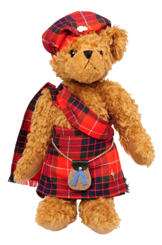 Adrian Teddy bear in tartan