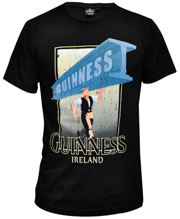 Guinness Black Distressed Strength Tee