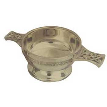 Large Pewter Celtic Quaich