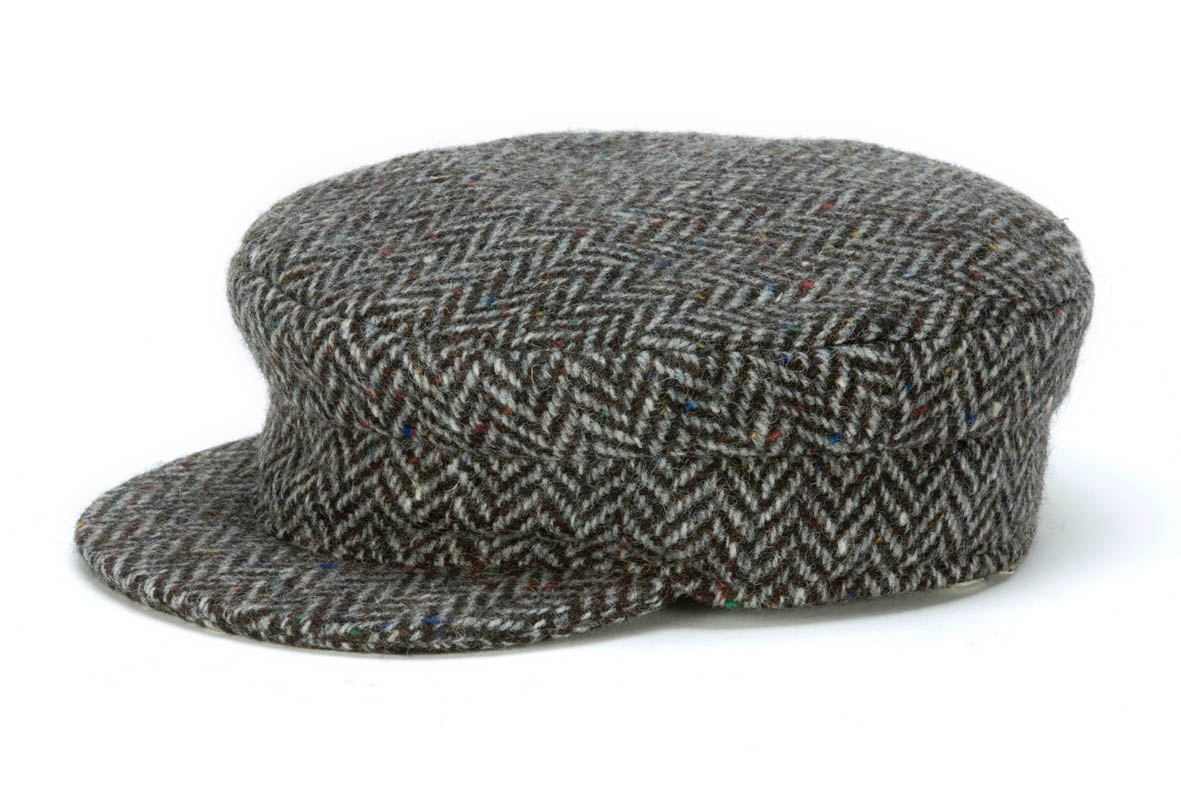 Skipper Cap grey Herringbone
