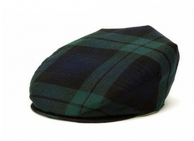 Vintage Flat Cap Black Watch Tartan