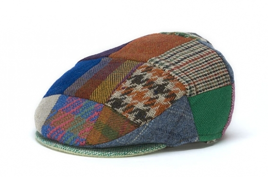 Vintage Bright Patch Flat Cap