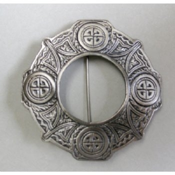 Antinque style Scottish Plaid Brooch