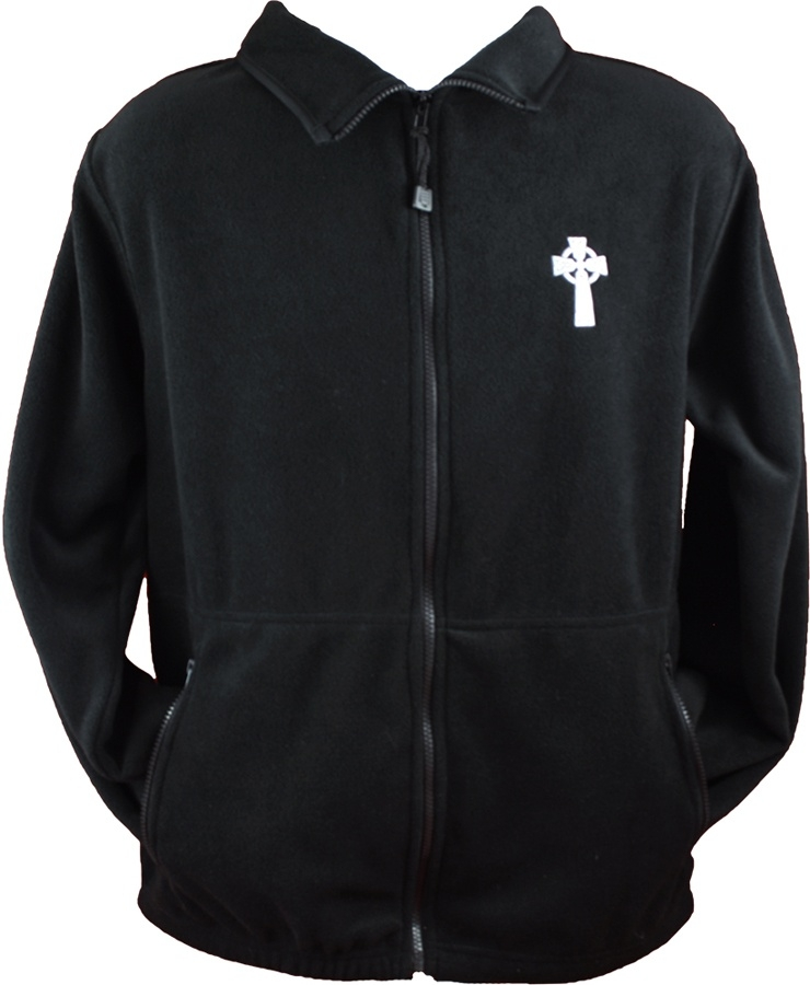 Embroidered Celtic Cross Zipped Fleece