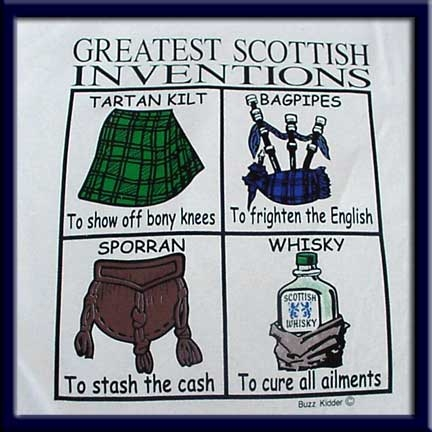 Greatest Scottish Inventions Tee Shirt