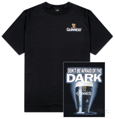 GUINNESS 'Don't be Afraid of the Dark!' tee shirt