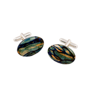 HeatherGems Oval Cufflinks