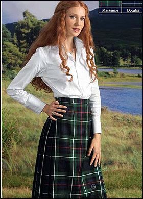 ladies kilted skirt