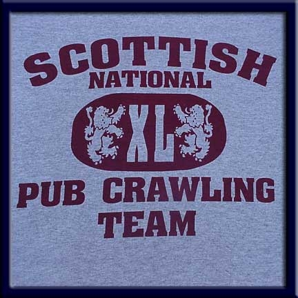 Scottish National Pub Crawling Team T Shirt