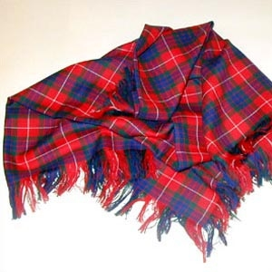 Ladies Light Weight Scottish Tartan Shawl