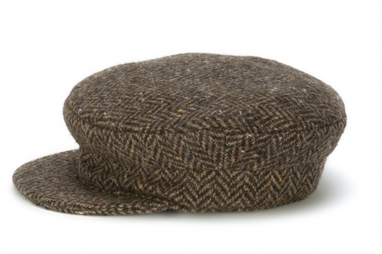 Skipper Cap Herringbone Brown