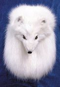 Arctic Fox Head On Full Mask Sporran