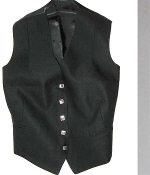 Women's 5 Button Vest - Black