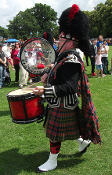 Drummer's Belted Plaid Purled Fringe