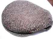 Flat Cap herringbone brown