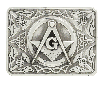 Masonic kilt belt buckle