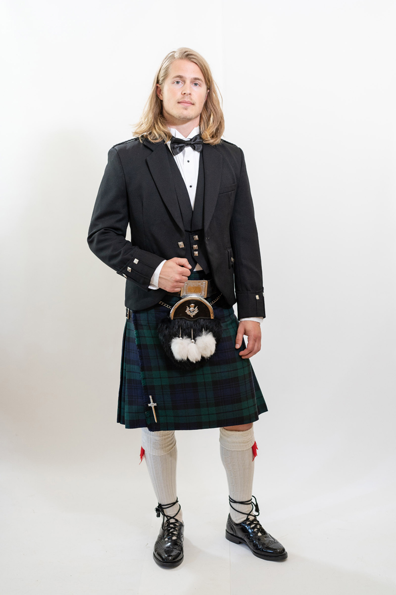 Black Watch Tartan Kilt Rental Outfit