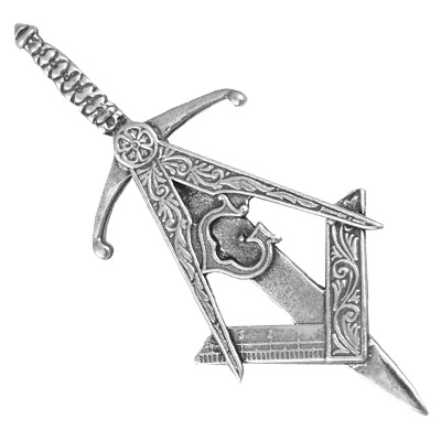 Masonic Pewter kilt pin
