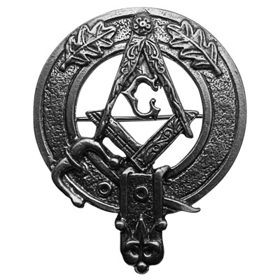 Masonic Pewter Cap Badge